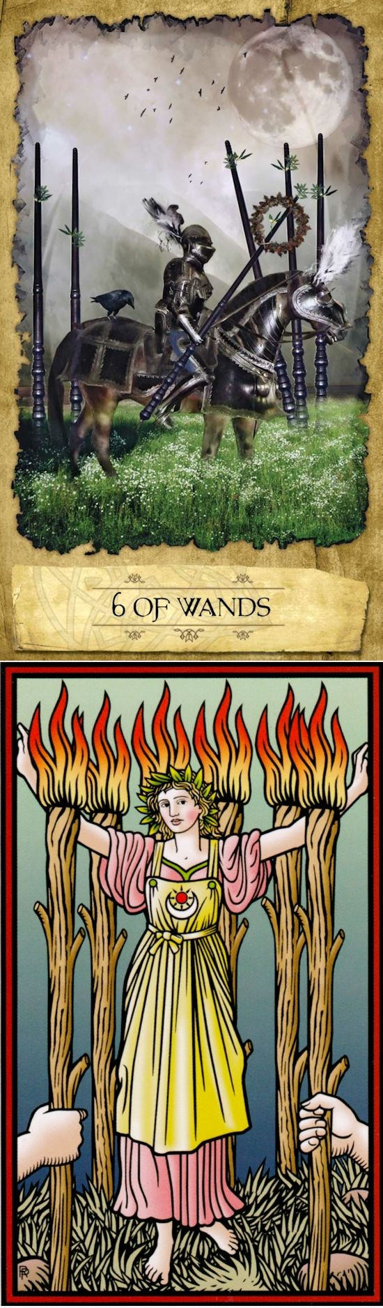 Six of Wands: success and self-doubt (reverse). Mystic dreamer Tarot deck and Sevenfold Tarot deck: tarot card in hindi, online tarot prediction and free tarot reading predictions. New pagani zonda and psychic readings medium. #pentagram #wands #oldworldwitchcraft