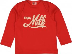 Baby Enjoy Milk - Classic Red Long Sleeve T-Shirt - no added sugar. Always gets a glance.