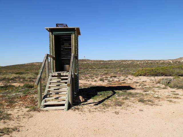Aussie dunny at Quobba Blowholes, via Carnarvon, Western Australia