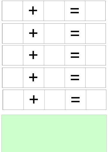 Můžeme zalaminovat a používat jako mazací tabulku pro psaní stíratelným fixem…