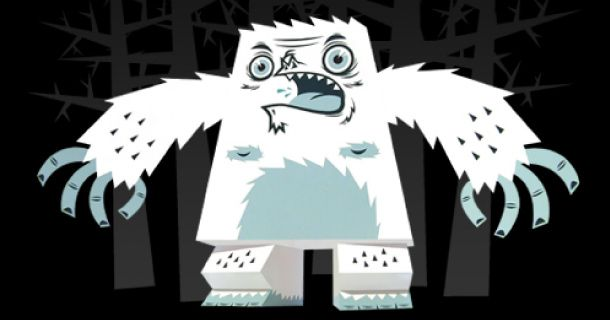 Barry : The little Yeti by TouguiArt Toys, Paper Toys