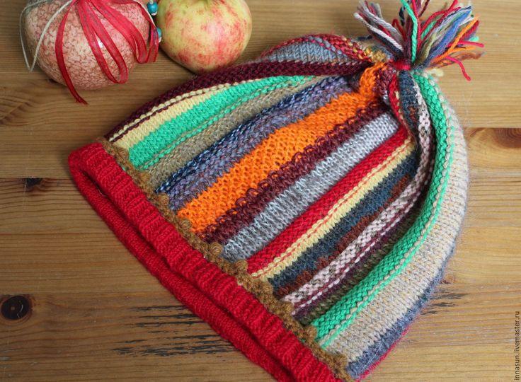 Купить Шапка Праздник урожая - шапка, шапка вязаная, шапка женская, осень, зима, разноцветная