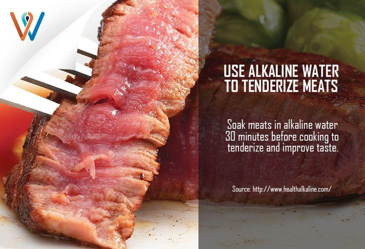 Make your favorite meat more tender, tastier and flavorful by using alkaline water when cooking! #starwellnesssg #alkalinewater #betterliving #healthyliving #tenderizingmeat