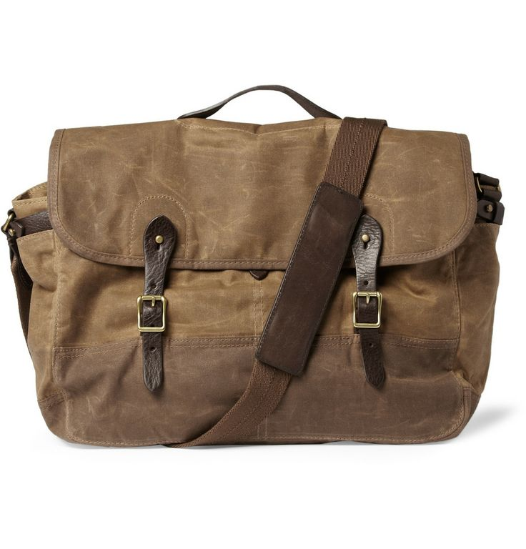 Abingdon Waxed Cotton-Canvas Messenger Bag