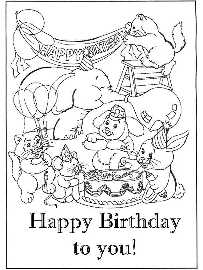 42 best ideas about Birthday Card Ideas – Birthday Cards to Print and Colour