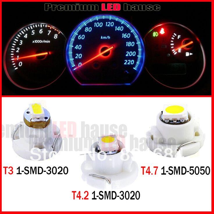 20 шт./лот T3 T4.2 T4.7 Белый 1-smd-5050 лампа инструмент Dashboard Тире Загорается Индикатор 12 В LED Белые Огни Клин Лампы