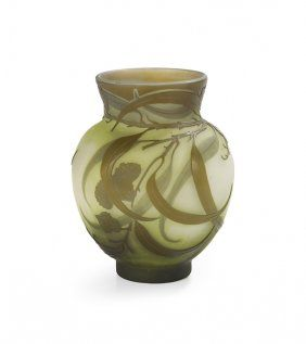 Emile Galle Cameo Glass Vase                                                                                                                                                                                 More