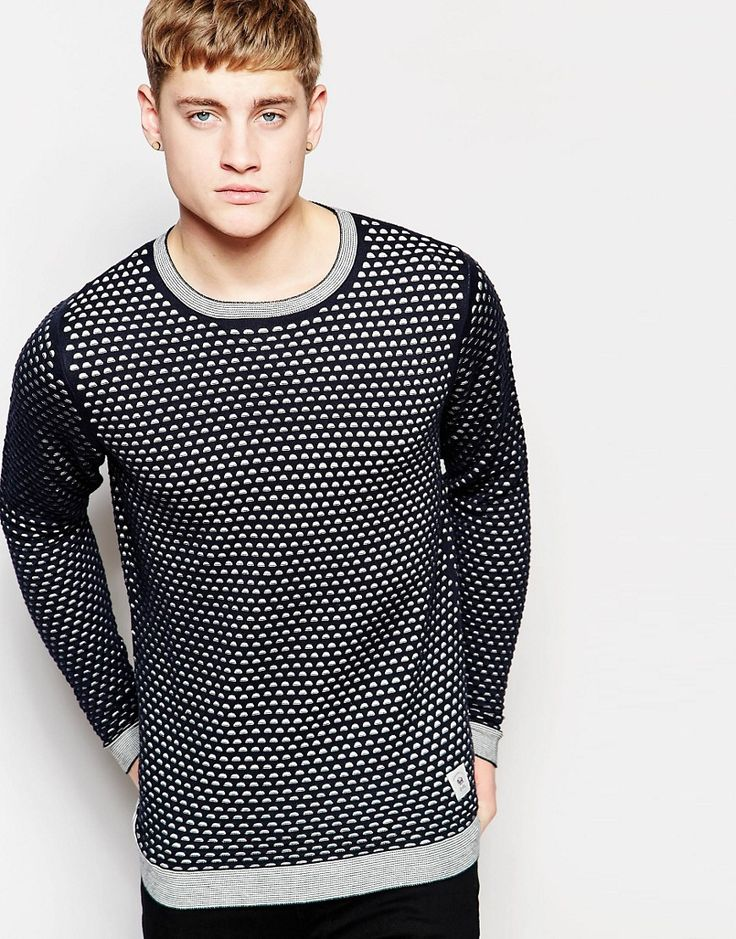 Image 1 ofBellfield Knitted Jumper with All Over Print