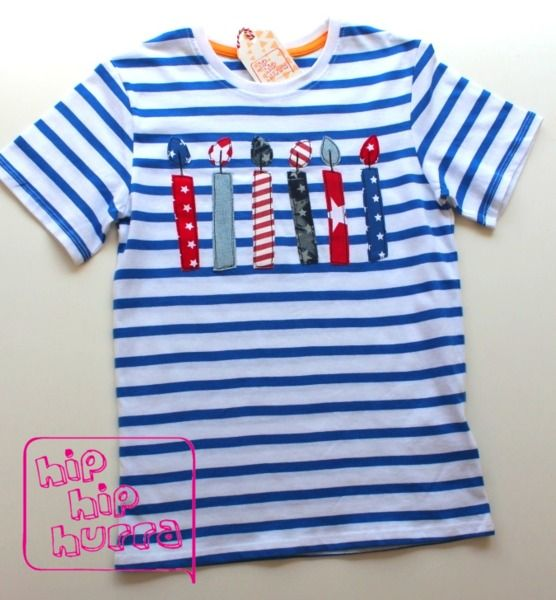 6!+Geburtstags-Shirt+'Summer-Candles+-+Boys+only'+von+*hip+hip+hurra*+auf+DaWanda.com