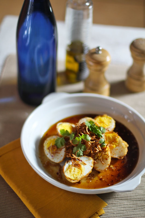 ... Thai Son-in-Law Eggs (Deep-Fried Hard-Boiled Eggs in Tamarind Sauce