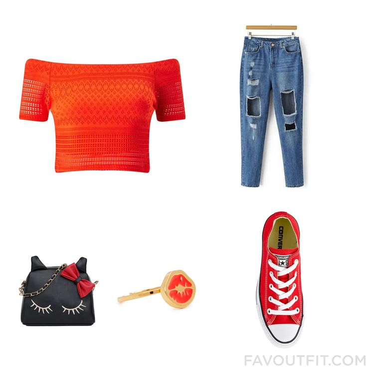 Outfit Advice With Miss Selfridge Top Blue Jeans Converse Sneakers And Cross-Body Handbag From November 2016 #outfit #look