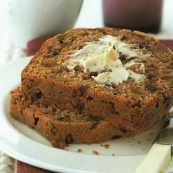 This favourite Welsh teabread – its name means 'speckled bread' – is usually made with a yeast dough by bakers and by a quick-mix method at home. Soaking the dried fruit in tea makes it very juicy, and produces a moist loaf with good keeping qualities.
