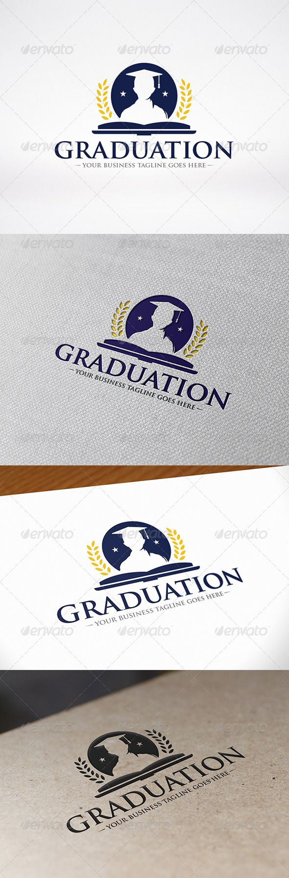 University Graduation Logo Template — Vector EPS #university logo #ubication • Available here → https://graphicriver.net/item/university-graduation-logo-template/8626072?ref=pxcr