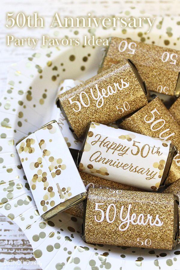 Gold 50th Anniversary Mini Candy Bar Stickers 45 Count In 2020 50th Wedding Anniversary Party 50th Anniversary Party Favors 50th Anniversary Party