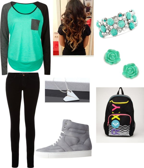 """""""First Day Of School"""" by rashel-shafer ❤ liked on Polyvore"""