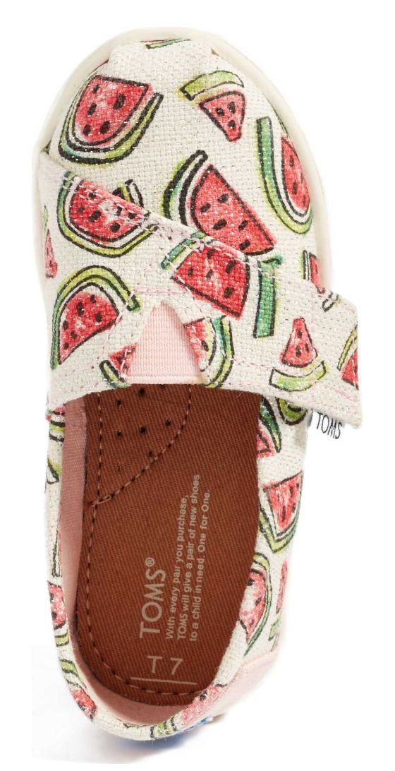 Glittered watermelon TOMS