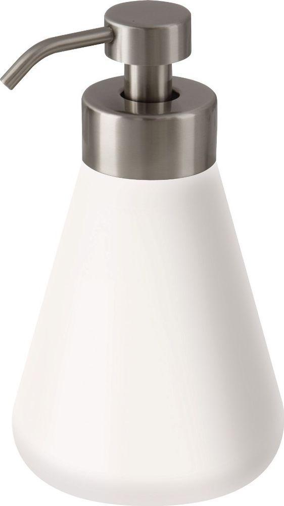 Keramik Schaum-Seifenspender Flora mit Edelstahl Pumpe 500 ml