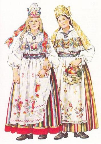 North Estonia - Estonian folk costumes                    ...shared by Vivikene
