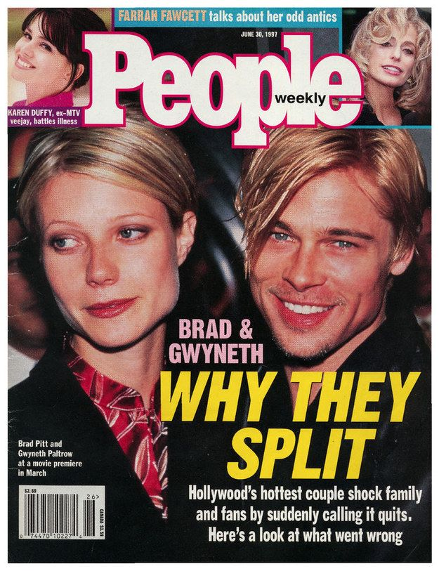 I wish everyone could understand just how golden they were together. Also: matching haircuts. | 19 Perfect People Magazine Covers From The 1990s