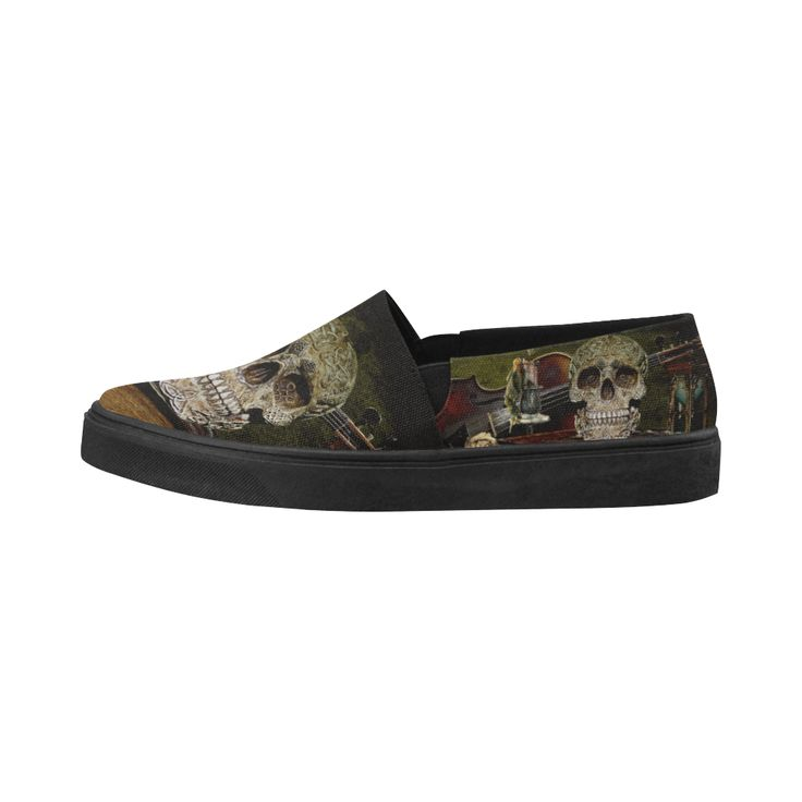 Funny Skull and Book Naiad Canvas Shoes  Model 1809