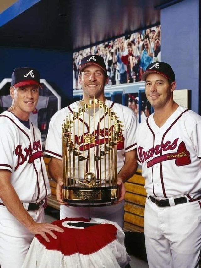 Glavine Smoltz And Maddux Atlanta Braves In 2020 Braves Baseball Atlanta Braves Baseball Braves