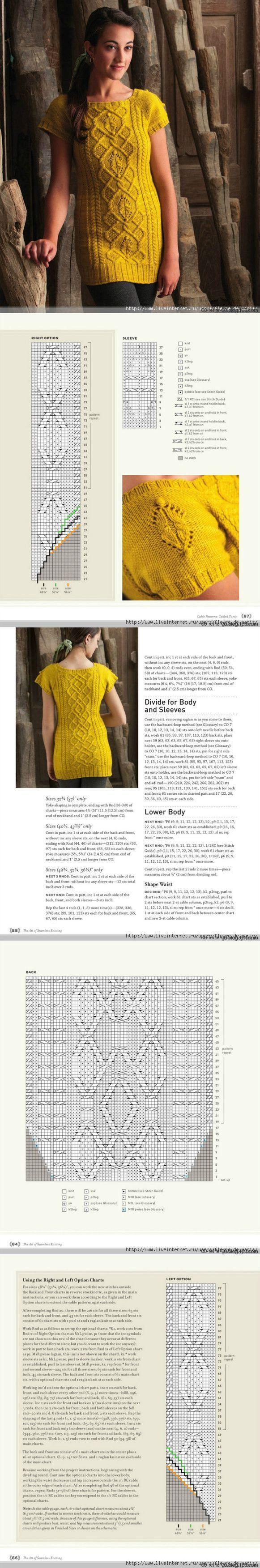 针织短袖 - 蕾妮的日志 - 网易博客 | вязание | Постила