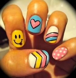 Pastel Nail Art Idea