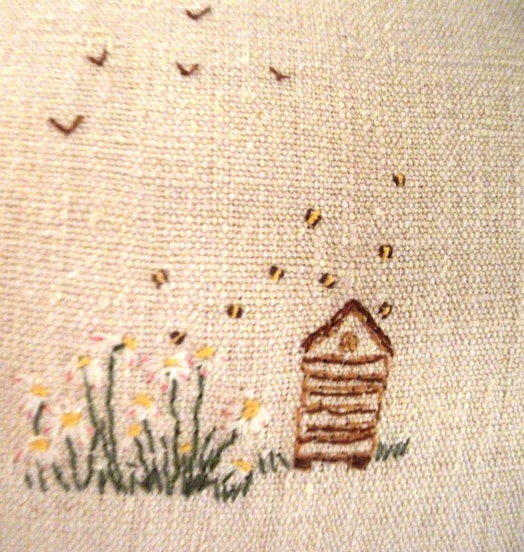 EMBROIDERY   Caroline Zoob Bee Hive  