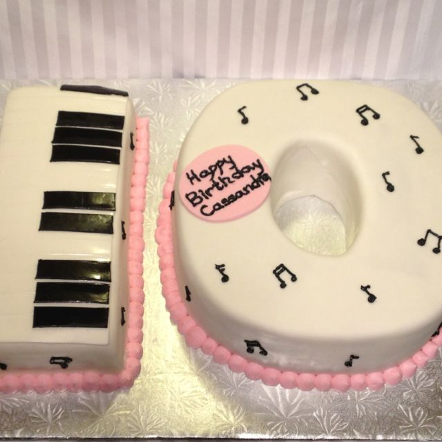 Number 10 musical birthday cake