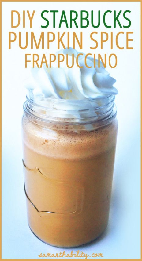 Because I had so much fun making my DIY Chocolate Frappe I got to work perfecting the pumpkin spice version. Pumpkin spice is my favorite seasonal treat (is it acceptable to enjoy it all year long?…