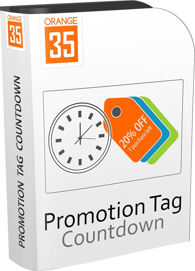 Magento Promotion Tag Countdown Logo https://store.orange35.com/magento-call-to-action-promotion-tag