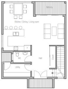 Plano de casa grande de 2 plantas con diseo moderno y