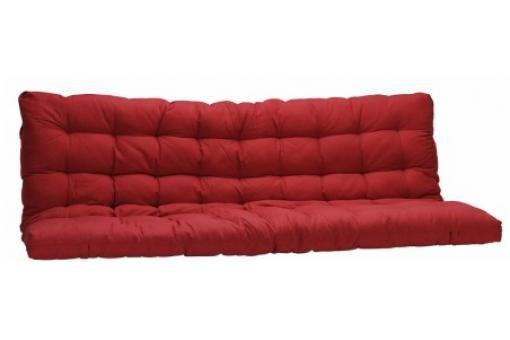 Matelas Futon pour clic-clac 135x190 cm rouge dos enveloppant 100% coton MINUS