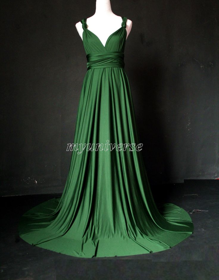 Deep Green Bridesmaid Dress Wedding Dress Infinity Dress Wrap Convertible Dress Formal Dress Jersey by myuniverse on Etsy https://www.etsy.com/listing/199197984/deep-green-bridesmaid-dress-wedding
