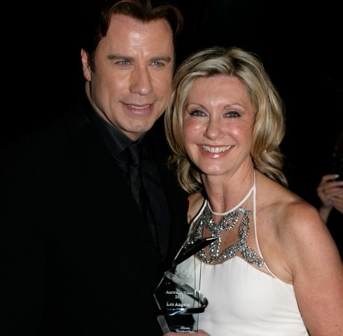 Olivia Newton-John, Honouree and John Travolta, Presenter at the 2006 LA Black Tie Gala: Black Ties, 2006 La, Olivia Newton John, G Day Usa, 10 Years, La Black, John Travolta, Ties Gala
