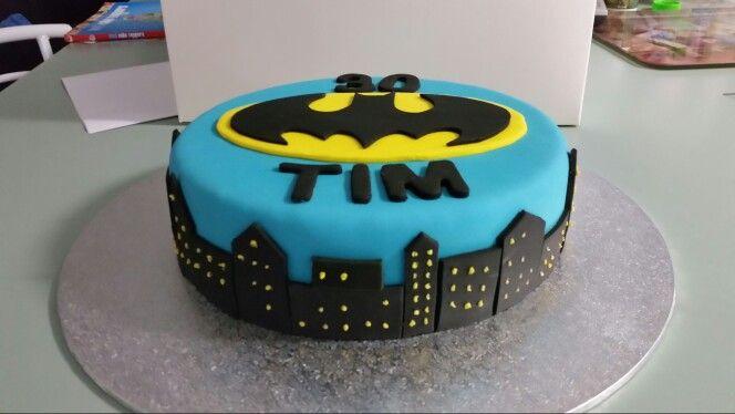 A batman cake for a friend
