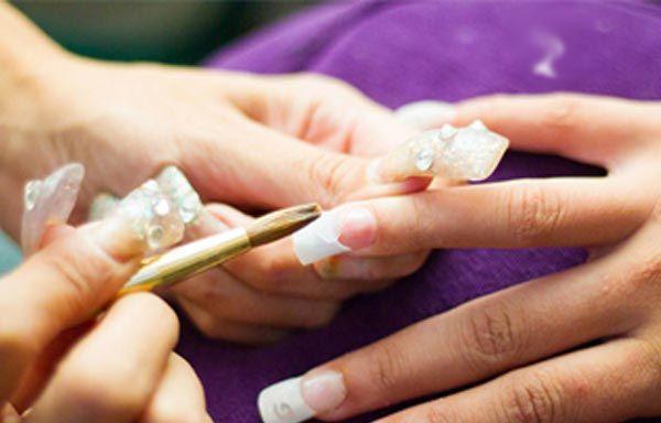 Cómo poner uñas acrílicas por pasos, perla de acrílico. #uñas #unhas #uñasdemoda