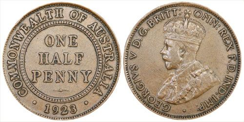 Australia's 1923 Halfpenny one of our most important and rarest pre-decimal coins.
