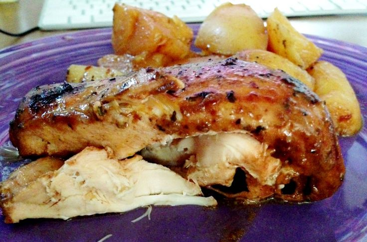 3 ingredient Crock-Pot chicken + potatoes - super easy and PERFECT for my 2 quart crock pot that I have.