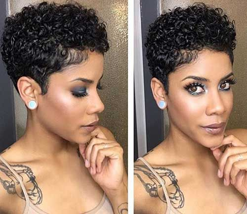 Short Natural Curly Hairstyles Best 619 Best Hair Images On Pinterest  Natural Hair Short Cuts And