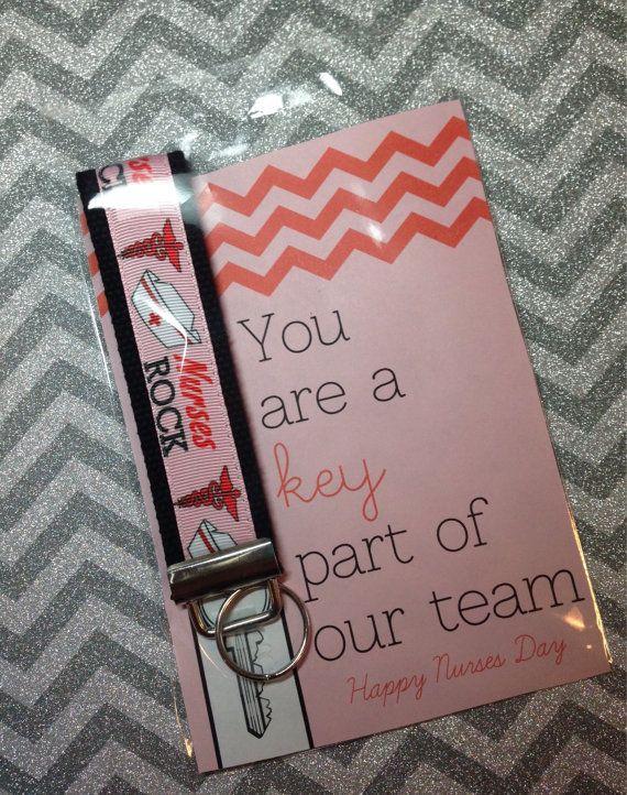 Nurse appreciation gift key fob set by JollyMaeKeyFobs on Etsy