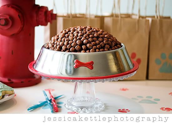Love this cake! It's baked in a bowl, turned upside down and covered in cocoa puffs!