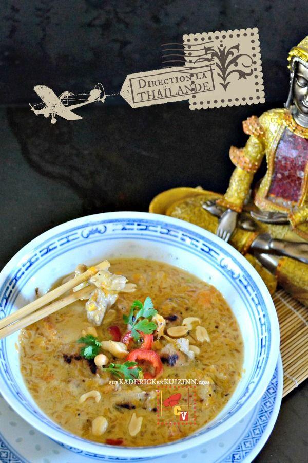 Soupe thai - Recette thaï d'araignée de porc et sauce au lait de coco sur kaderickenkuizinn.com