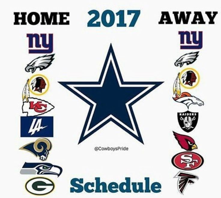 2017 Dallas Cowboys Schedule