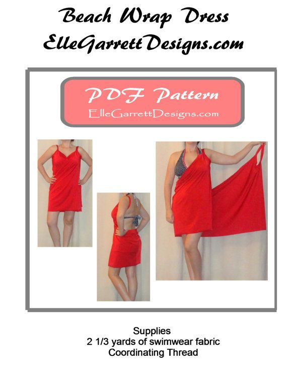 PDF patroon eenvoudige strand Cover-Up door ellegarrettdesigns