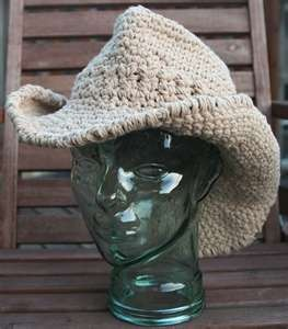 Crochet cowboy hat (I would have to make it, I think I can!)  #SantaFe #Getaway