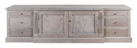 Block & Chisel solid railway oak TV console