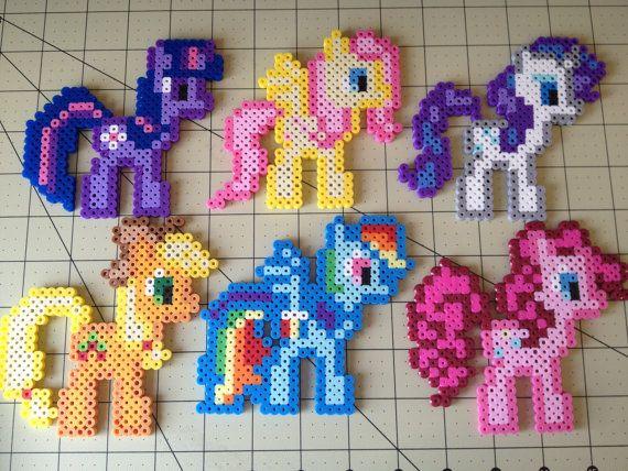 My Little Pony Perler Bead Sprite Set - Mane Six by ToughTurtles