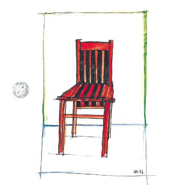 Rossi Chair drawing by Aldo Rossi