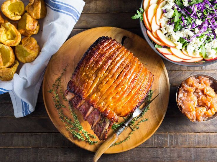 A hearty family roast, done right, is cause for celebration—and a great reason to know your local butcher! This pork loin is flavored with herbs and served with spiced apple chutney.
